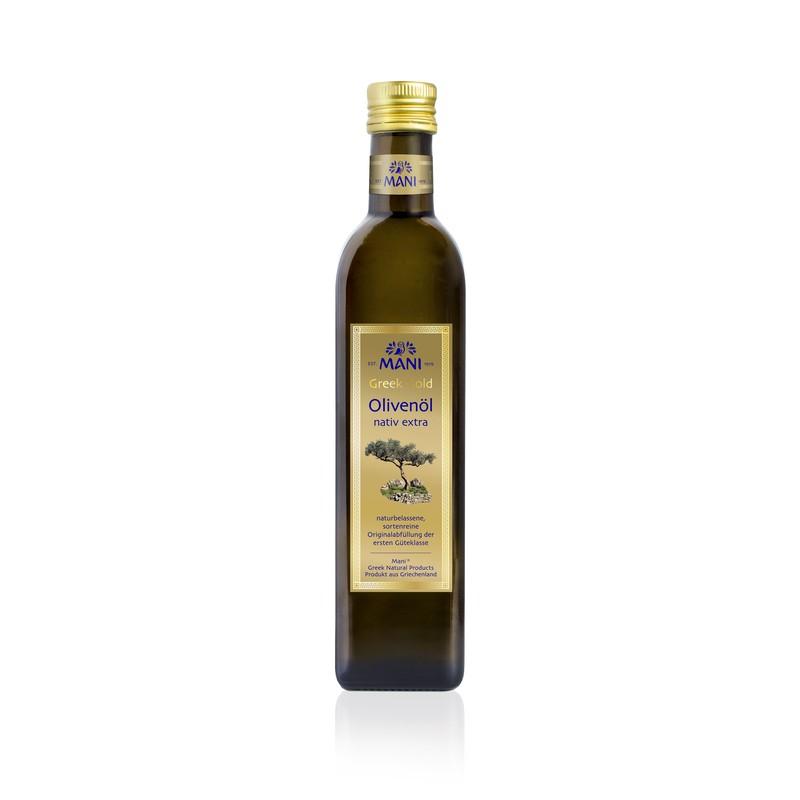 MANI Greek Gold Olivenöl nativ extra, 0,5 l Flasche Aktionen