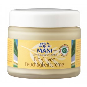 MANI Bio-Oliven Feuchtigkeitscreme, 100 g Glas