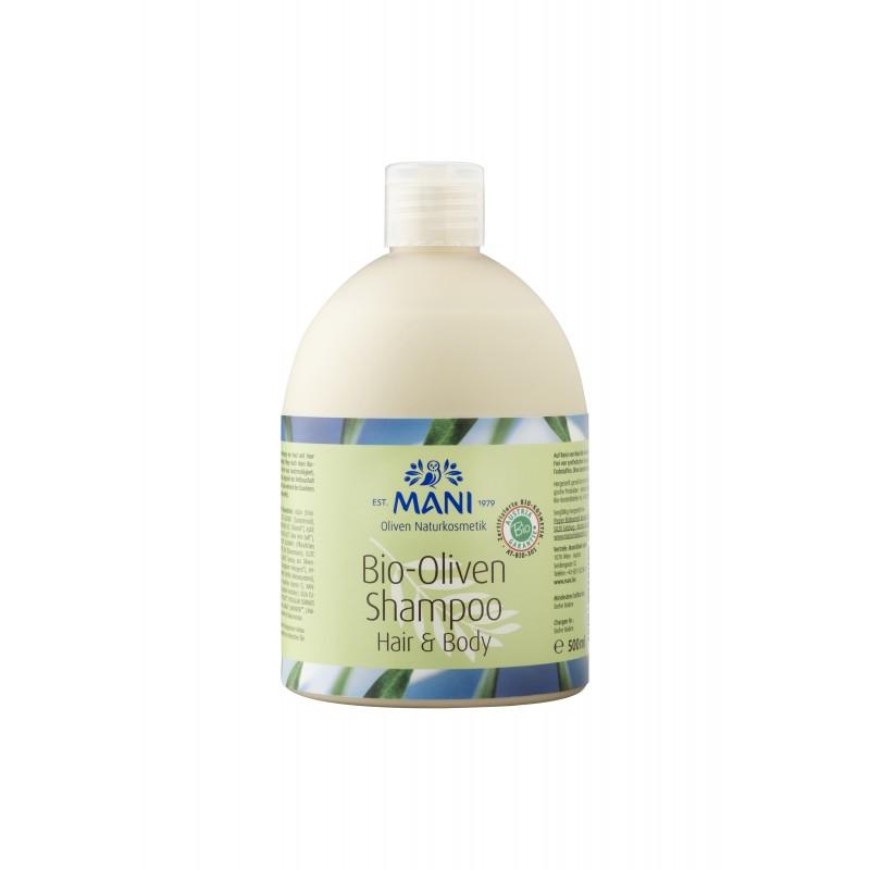 MANI Bio-Oliven Shampoo Hair & Body, 500 ml Flasche