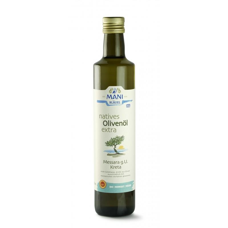 MANI natives Olivenöl extra, Messara g.U. Kreta, bio, 0,5 l Flasche Olivenöl