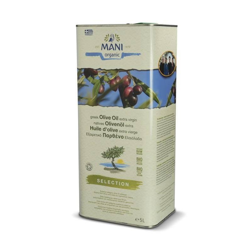 MANI natives Olivenöl extra, Selection, bio, 5 l Kanister