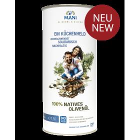 MANI 100% natives Olivenöl, bio, 1,5 l Kanister
