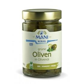 MANI Grüne Oliven in Olivenöl, bio, NL Fair, 280g Glas