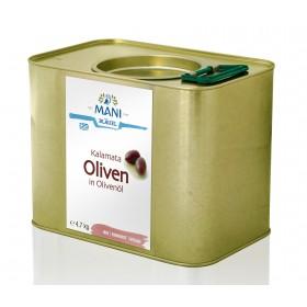 MANI Kalamata Oliven in Olivenöl, bio, 4,7 kg Kanister